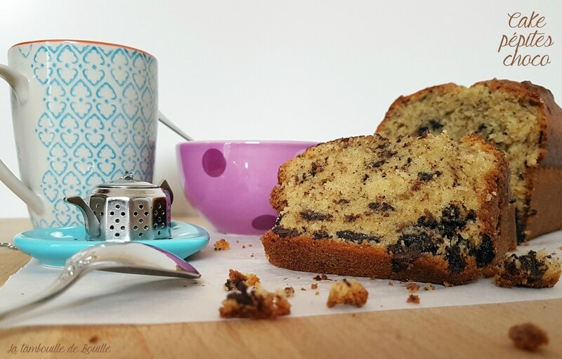 recette-cake-tout-simple-pépites-chocolat