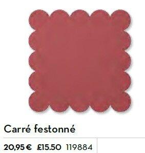 p183 perfo carré feston