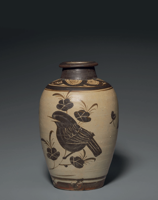 A painted Jizhou meiping, Southern Song-Yuan dynasty, 13th century