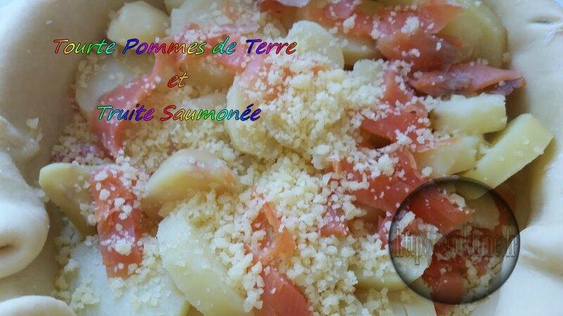 tourte pommes de terre et truite saumonée au thermomix 4