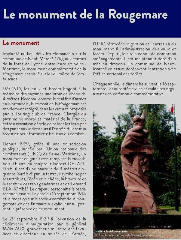 Le monument de la Rougemare