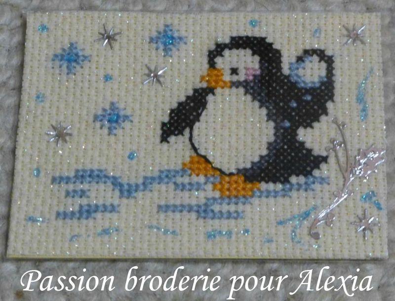 passionbroderie7 pour Alexia pingouin