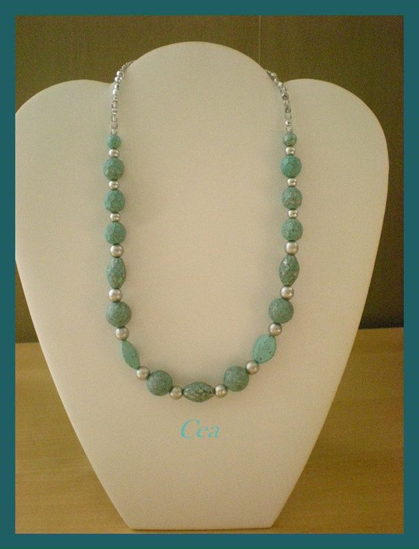 Collier terre turquoise