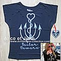Abbey Dawn Sailors Beware Rock Tee
