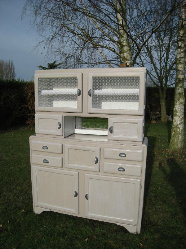 Buffet des ann es 50 relook 700 vendu photo de for Teindre un meuble deja teint