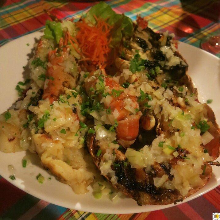Délice du pignon - langoustes grillées, écrevisses grillées, lambis grillés (1)