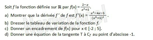 1ere derivation application aux variations 4 4