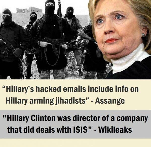 Le Numéro 2 de l'organisation terroriste Daech ( ISIS) ordonné aux musulmans américains de voter pour Hillary Clinton.