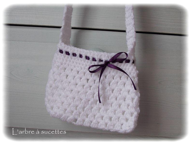 Petit sac au crochet pour fillette l 39 arbre sucettes - Tuto pour creer un sac en crochet ...