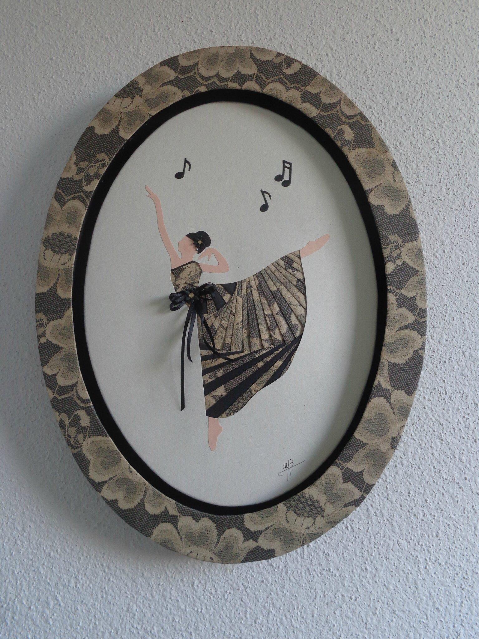 """Cadre ovale """"danseuse"""""""
