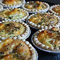 Tartelette aux poires et cheddar