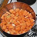 Soupe aux patates douces et au gingembre.(tour en cuisine rapide 39)