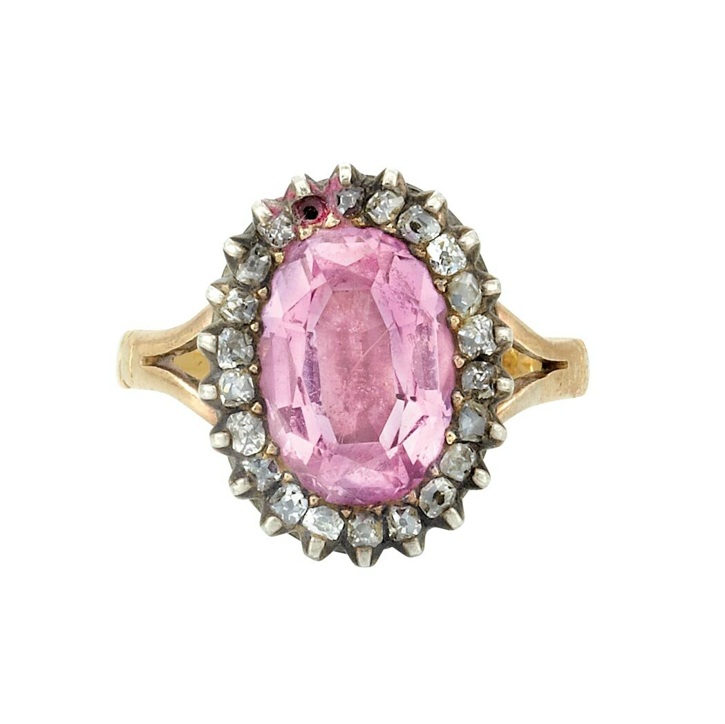 Antique Gold And Pink Topaz Jewelry At Doyle New York