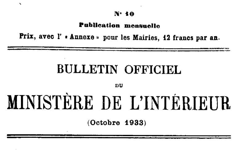 Bulletin officiel du ministère de l'intérieur 1933_1