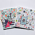 Duo de mini-album/pochette cd - dt les kits de kali