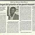 Article journal le messager