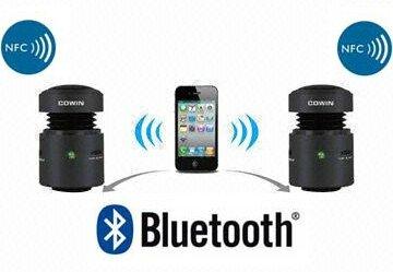 enceinte vibrante sans fil bluetooth nfc pour iphone samsung 2b