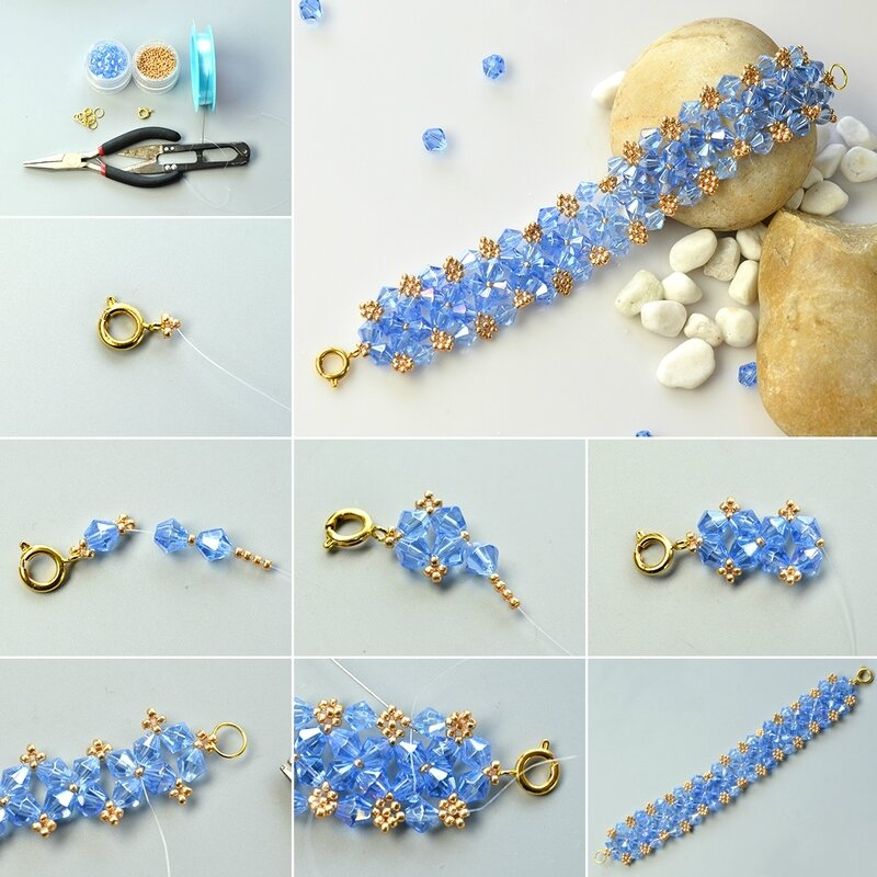 1080-Ocean-Style-Bracelet-–-How-to-Make-a-Blue-Glass-Bead-Bracelet-with-Seed-Beads
