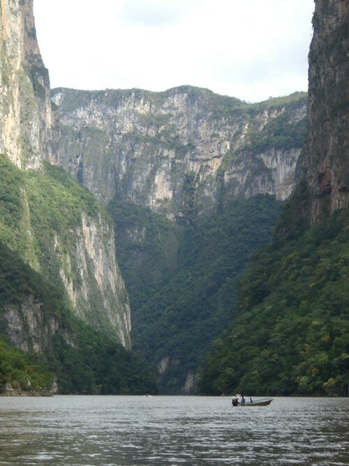 Sailing through a canyon near San Cristobal de Las Casas