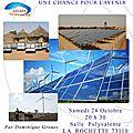 24 octobre : conférence energies renouvelables à la rochette