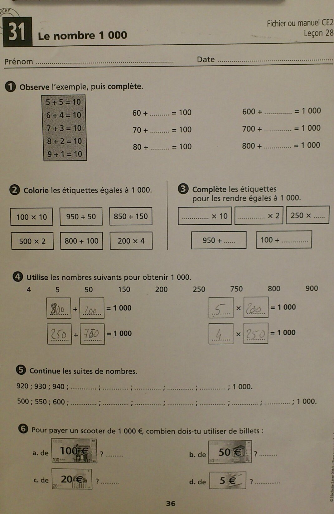 Journ e du vendredi 11 janvier 2013 ce2 de l 39 cole des for Revision table de multiplication