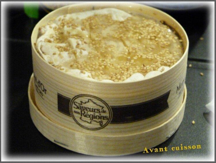 Miam mont d 39 or au champagne et graines s same miam la cuisine de cath - Temps cuisson mont d or ...