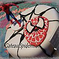 Gateau surprise spiderman