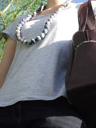 Collier et sac en liberty