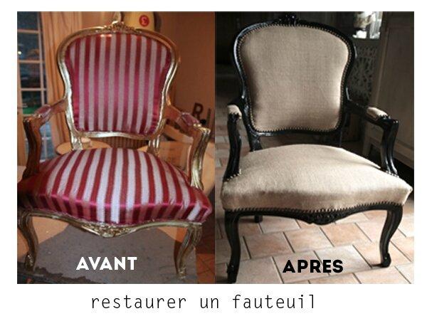 restaurer fauteuil