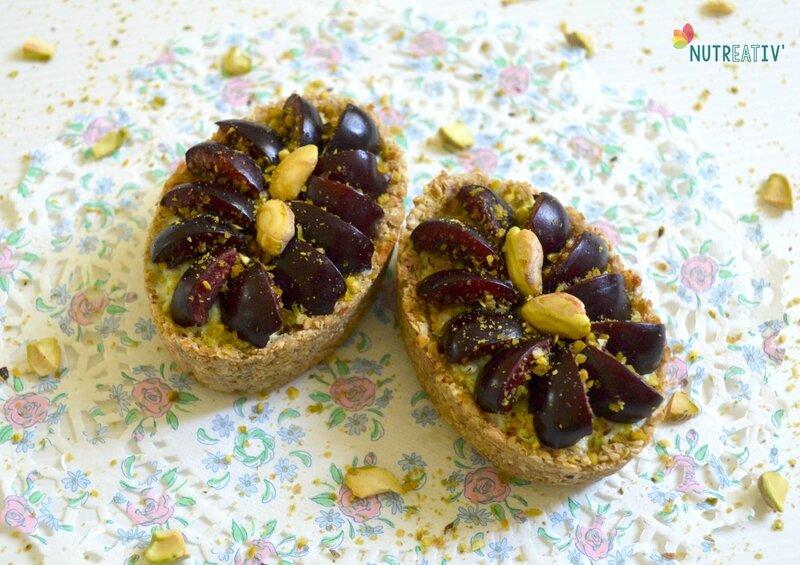 Tartelettes pistache & cerises 3