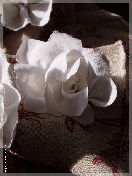 Rose Blanche en tissu