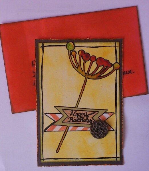 Carte anniversaire Fanfan - Novembre 2012