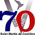 Lundi 22 juin 2015 à saint martin de castillon: cérémonie à la mémoire de roger bernard