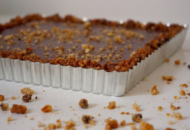 Tarte au chocolat sans four le blog 1 2 3 famille - Tarte au chocolat sans oeuf ...