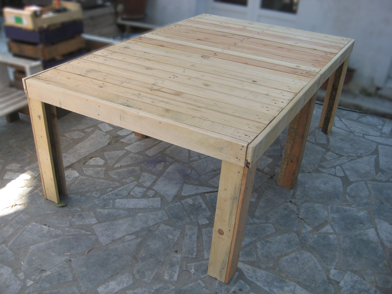 Beautiful Construction D Une Table De Jardin En Bois Photos - House ...
