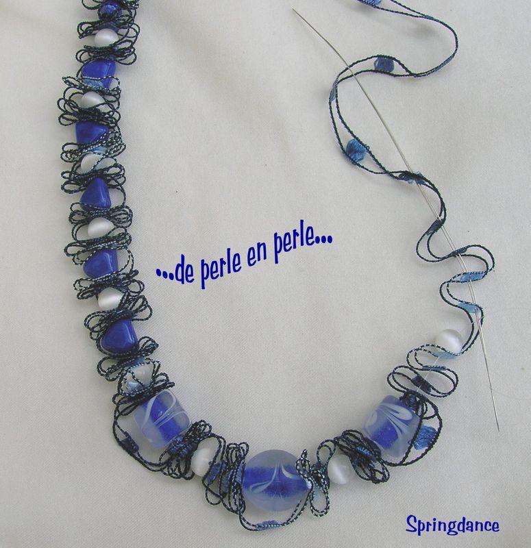 comment cr er un collier au ruban de perle en perle. Black Bedroom Furniture Sets. Home Design Ideas