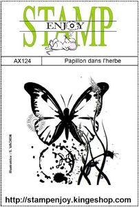 AX124 Papillon dans l'herbe sachet 8 X 12
