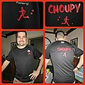 Tee shirt de sport customisé CHOUPY