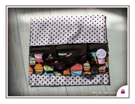 PH2013_03_06-275-sac-a-tarte-mary-du-pole-nord-chocolat-pois-blanc-ecru-interieur-biais-rose-fuchsia-rond-pois-blanc-marron-bandeau-cupcakes-sweet-treats-michael-miller