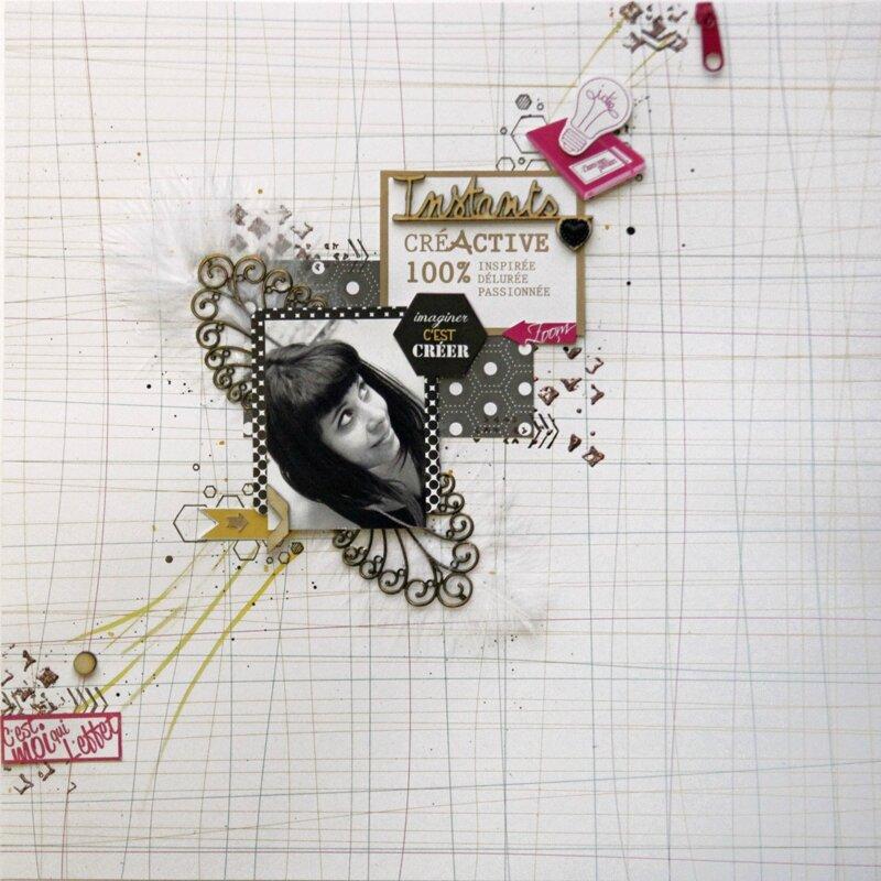 Page Sokai // Merci d'embellir ma Vie et Créactive// Loisirs Créatifs - Scrapbooking