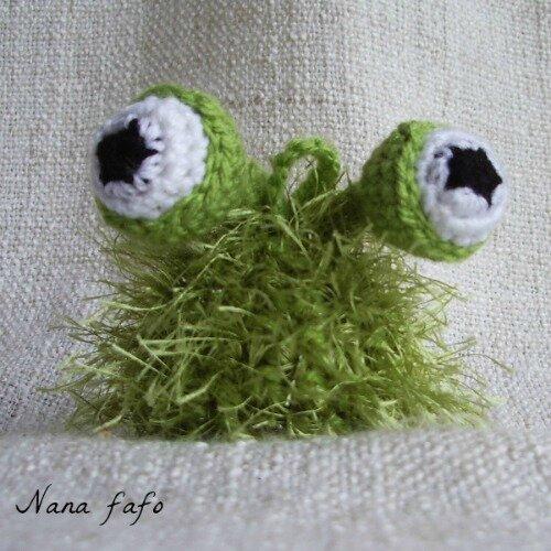 Gloubinours porte cl s poilus au crochet nana fafo crochet et petites histoires - Porte cle crochet ...