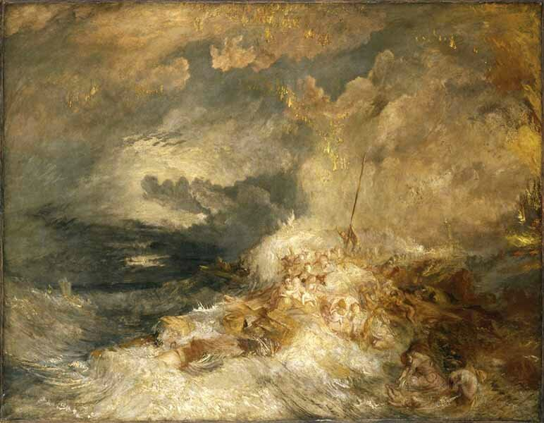 Tate Gallery - A disaster at sea - Turner