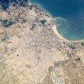 Vue par avion de Tanger
