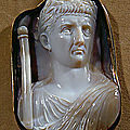 Roman Cameo, 1st-3rd century AD. Caesar Claudius (41-54 CE) with scepter
