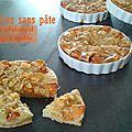 Tartelettes sans pâte aux abricots et sirop d'érable