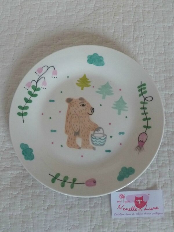 assiette ours