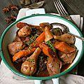 Mijoté de veau aux topinambours, carottes et badiane