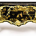 A Louis XV ormolu-mounted japanese lacquer and ebonized commode, attributed to Bernard II Vanrisamburgh, circa 1750.
