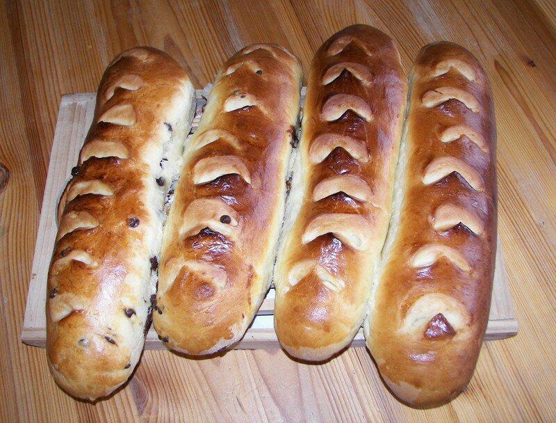Baguettes viennoises à l'orange