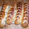 Baguettes viennoises à l'orange